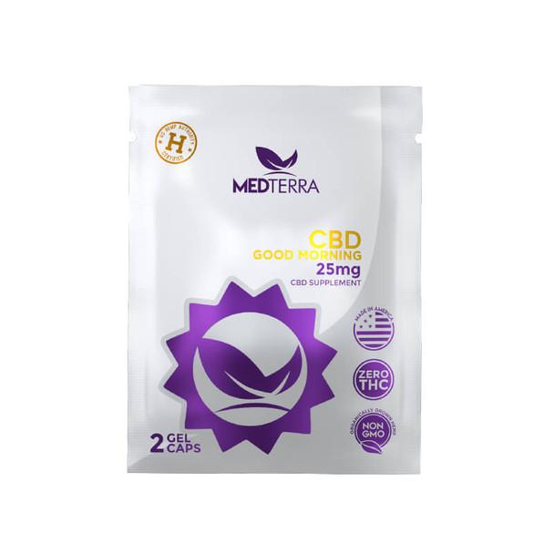 Medterra - CBD Capsules - Good Morning On The Go Pack Capsules - 25mg