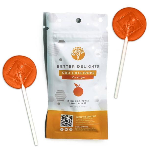 Creating Better Days - CBD Edible - Peace Pops - Tangy Orange - 2pc-25mg