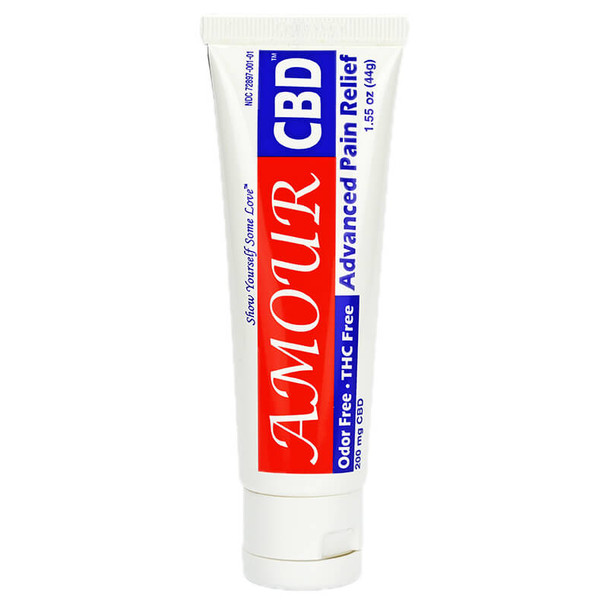AmourCBD - CBD Topical - Pain Relieving Cream - 1.55oz