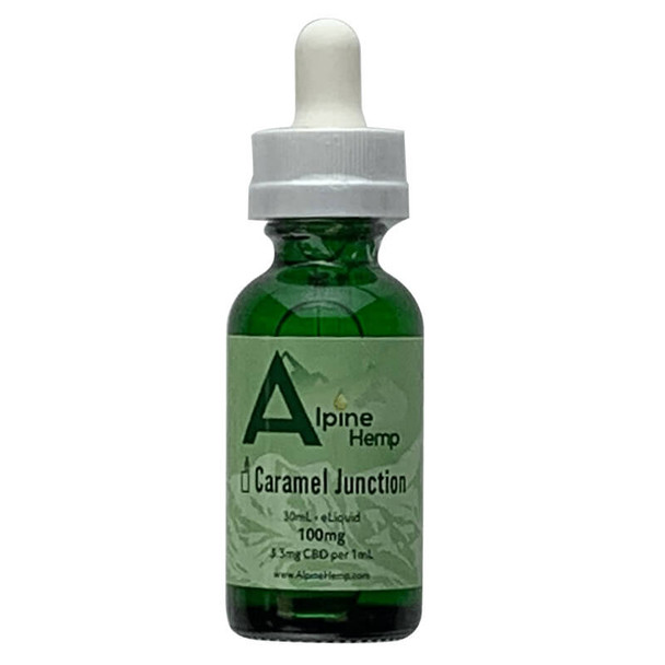Alpine Hemp - CBD Vape - Caramel Junction - 100mg-300mg