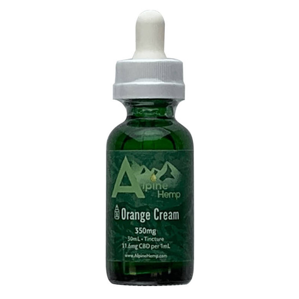 Alpine Hemp - CBD Tincture - Orange Cream - 350mg-1400mg