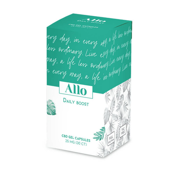 ALLO CBD - CBD Soft Gel - Daily Boost Capsule - 25mg