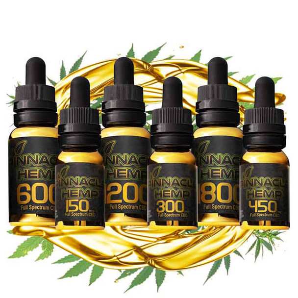 Pinnacle Hemp - CBD Tincture - Full Spectrum - 150mg-1800mg