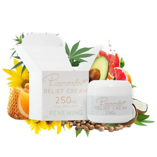 Pinnacle Hemp - CBD Topical - Relief Cream Renewing - 250mg-500mg
