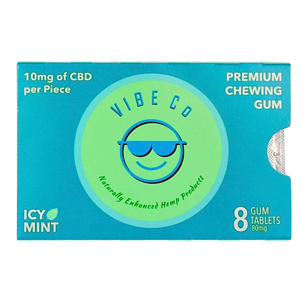 Vibe Co - CBD Edible - Icy Mint Chewing Gum - 10mg