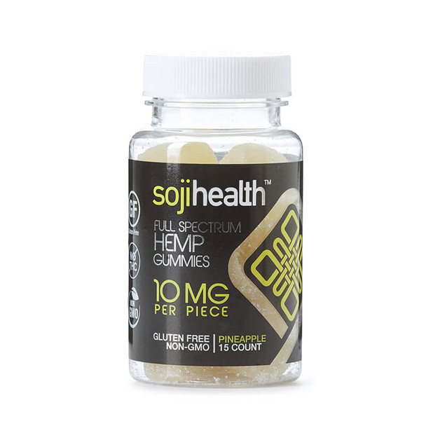 Soji Health - CBD Edible - Pineapple Gummies - 15pc-10mg