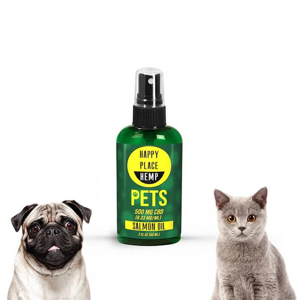 Happy Place Hemp - CBD Pet Tincture Spray - Salmon Oil - 500mg