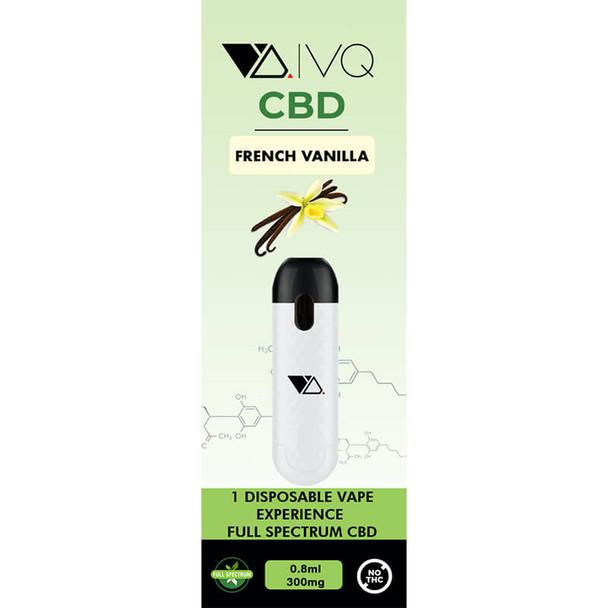 VQ CBD - CBD Disposable Vape Pen - French Vanilla - 300mg-500mg