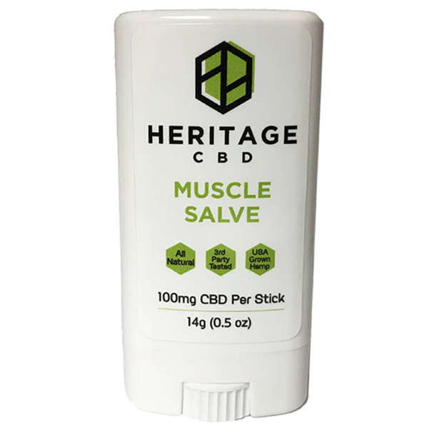 Heritage Hemp - CBD Topical - Muscle Salve Stick - 100mg