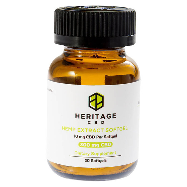 Heritage Hemp - CBD Soft Gels - 30 Count - 10mg-25mg