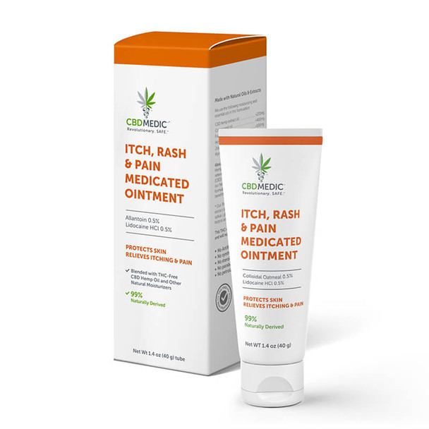CBDMEDIC - CBD Topical - Itch, Rash & Pain Medicated Ointment