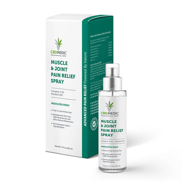 CBDMEDIC - CBD Topical - Muscle & Joint Pain Relief Spray
