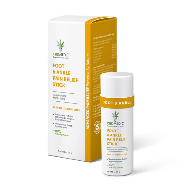 CBDMEDIC - CBD Topical - Foot & Ankle Pain Relief Stick