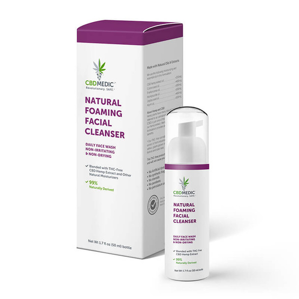 CBDMEDIC - CBD Topical - Natural Foaming Facial Cleanser