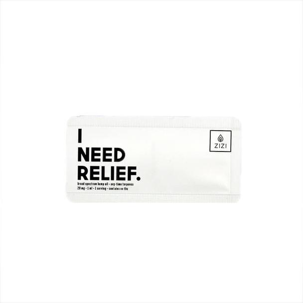 ZIZI Snaps - CBD Tincture - I Need Relief Snap - 20mg