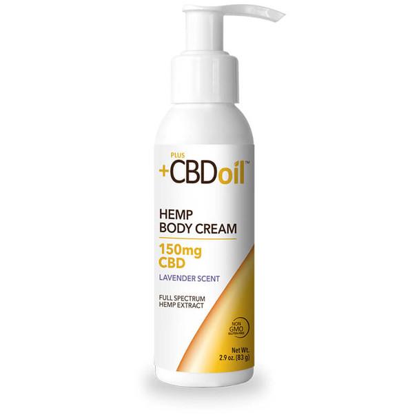 PlusCBD Oil - CBD Topical - Gold Body Cream Lavender - 150mg