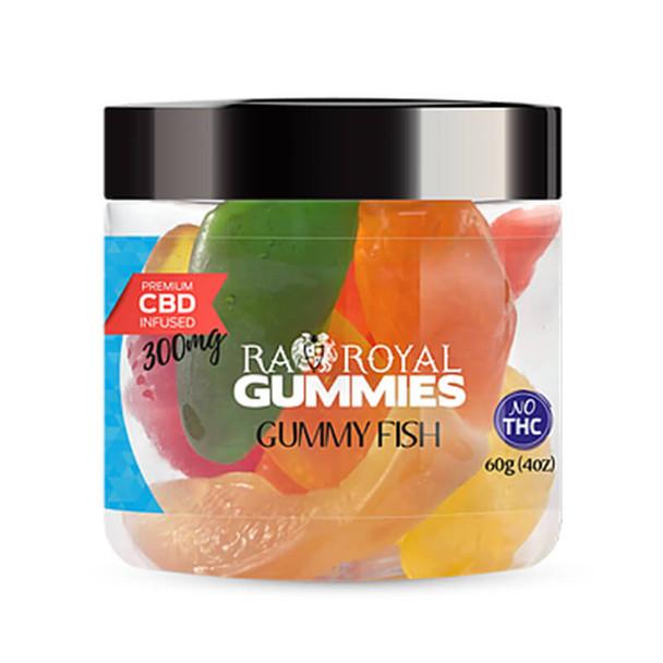 RA Royal CBD - CBD Edible - Gummy Fish Gummies - 300mg-1200mg