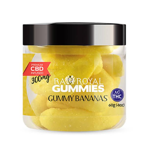 RA Royal CBD - CBD Edible - Gummy Bananas Gummies - 300mg-1200mg