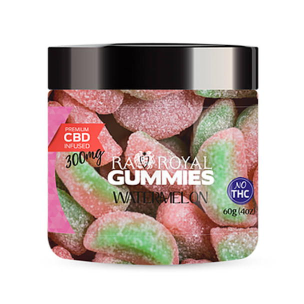 RA Royal CBD - CBD Edible - Watermelon Gummies - 300mg-1200mg