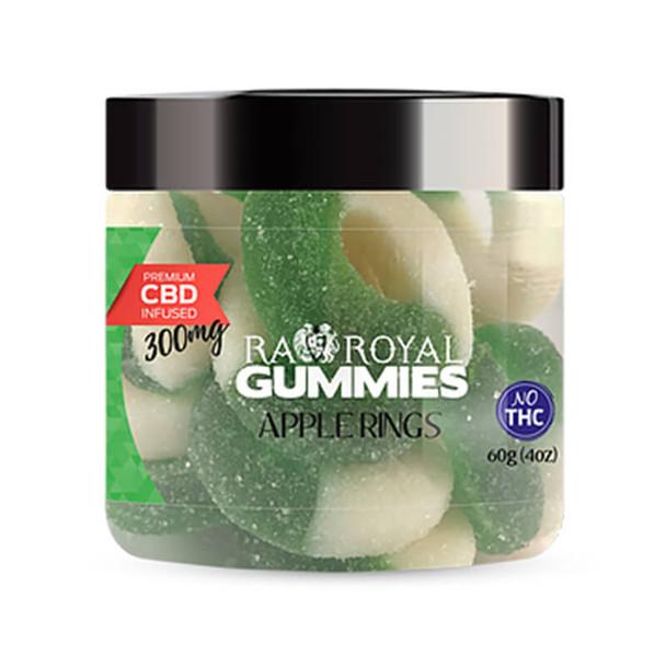RA Royal CBD - CBD Edible - Apple Ring Gummies - 300mg-1200mg