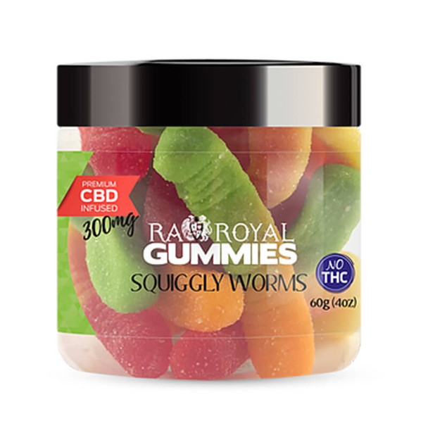RA Royal CBD - CBD Edible - Squiggly Worms Gummies - 300mg-1200mg
