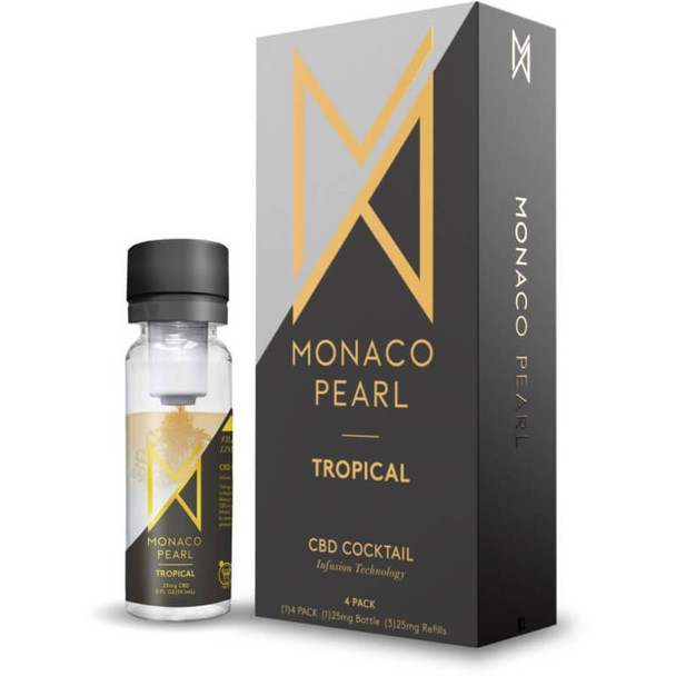 Monaco Pearl - CBD Drink - Tropical (4 Pack)