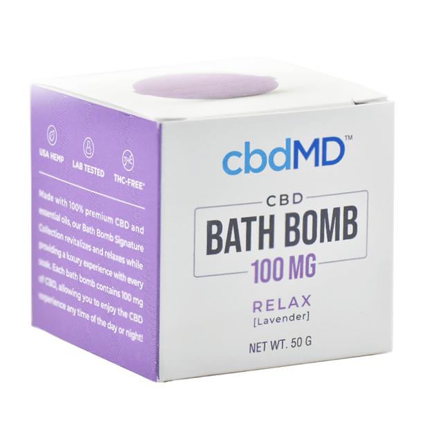 cbdMD - CBD Bath - Relax Bath Bomb - 100mg