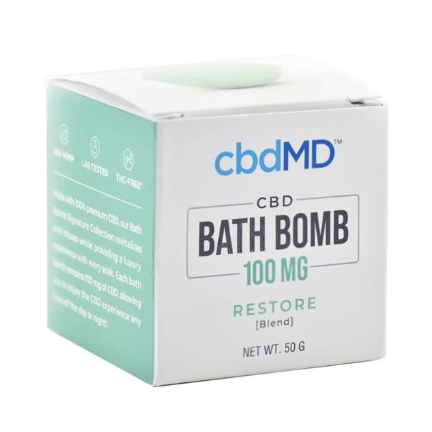 cbdMD - CBD Bath - Restore Bath Bomb - 100mg