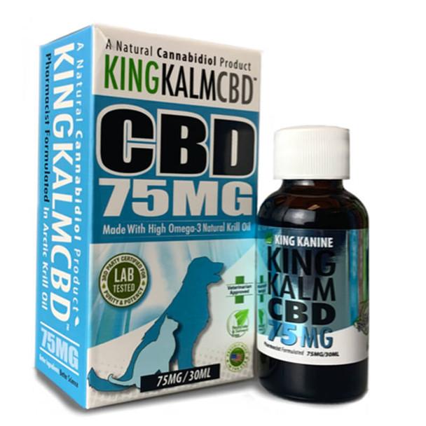 King Kalm - Pet Tincture - Omega-3 and Krill Oil - 75mg-300mg