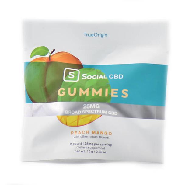 Social CBD - CBD Edible - Broad Spectrum Peach Mango Gummies - 12.5mg