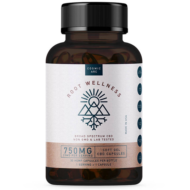 Root Wellness - CBD Soft Gels - Broad Spectrum - 750mg