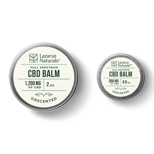 Lazarus Naturals - CBD Topical - Unscented Full Spectrum Balm - 400mg-1200mg