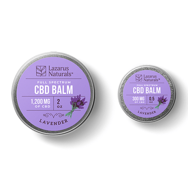 Lazarus Naturals - CBD Topical - Lavender Full Spectrum Balm - 400mg-1200mg