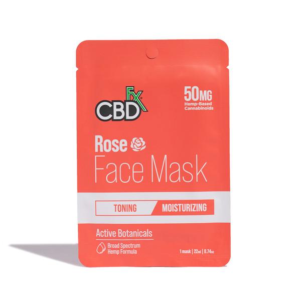 CBDfx - CBD Face Mask - Rose - 50mg