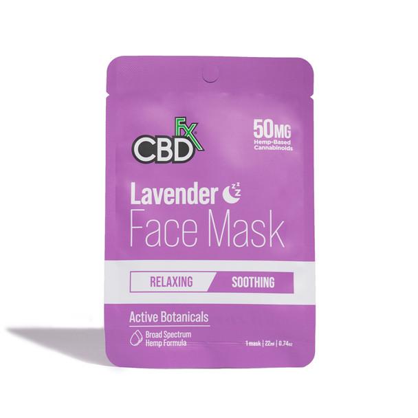 CBDfx - CBD Face Mask - Lavender - 50mg