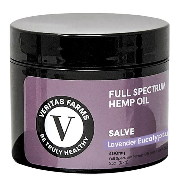 Veritas Farms - CBD Topical - Full Spectrum Lavender Eucalyptus Salve - 400mg-1000mg