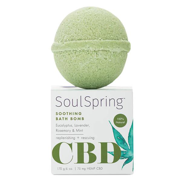 SoulSpring - CBD Bath - Soothing Bath Bomb - 75mg