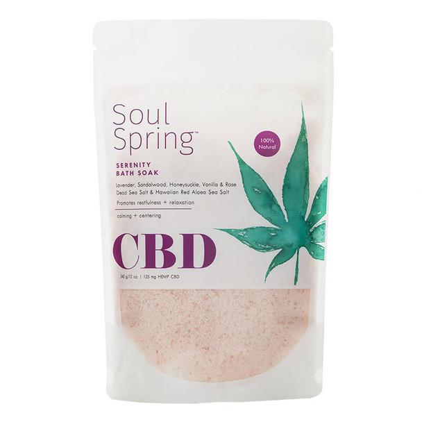 SoulSpring - CBD Bath - Serenity Bath Soak - 125mg