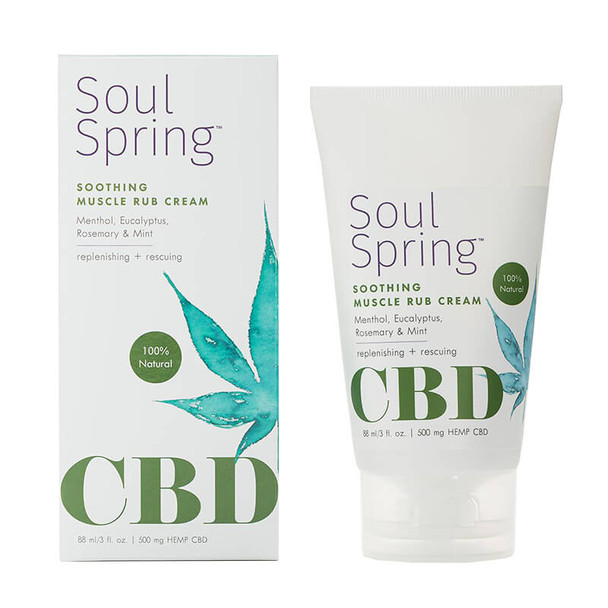 SoulSpring - CBD Topical - Soothing Muscle Rub Cream - 500mg