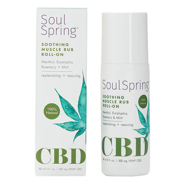 SoulSpring - CBD Topical - Soothing Muscle Roll-On - 500mg