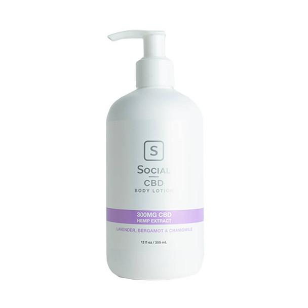 Social CBD - CBD Topical - Lavender Body Lotion - 300mg