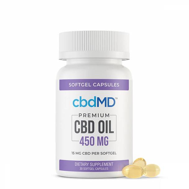 cbdMD - CBD Softgels - CBD Oil Softgel Capsules - 15mg-50mg