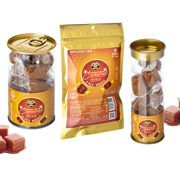 Kangaroo CBD - CBD Edible - Butter Cream Caramel Toffee Candy - 40mg