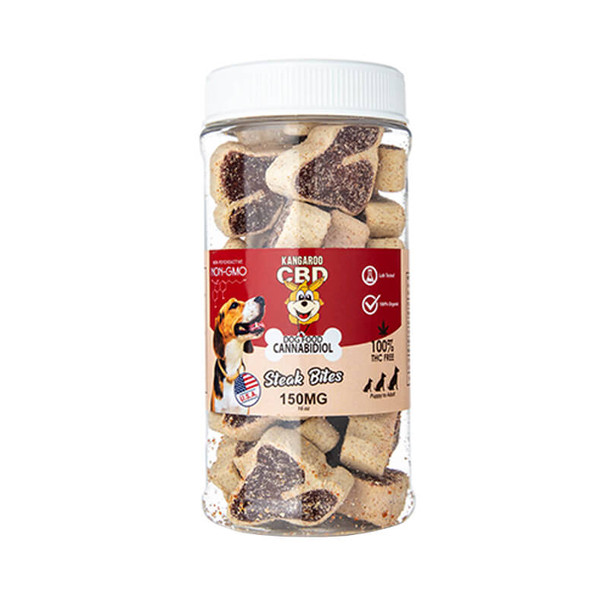 Kangaroo CBD - CBD Pet Edible - Dog Treats Steak Bites - 150mg