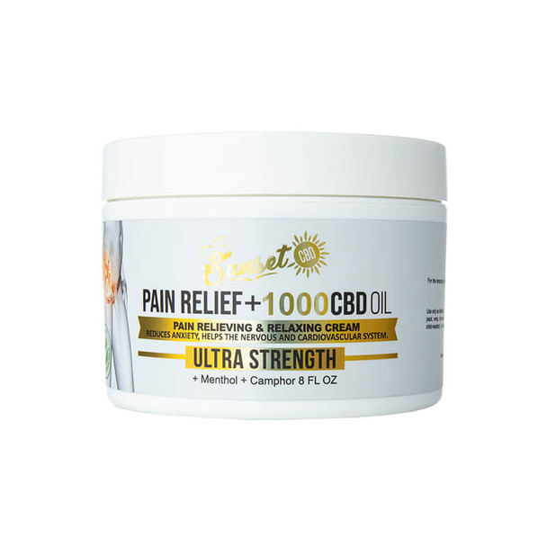 Sunset CBD - CBD Topical - Pain-Relief Cream - 1000mg
