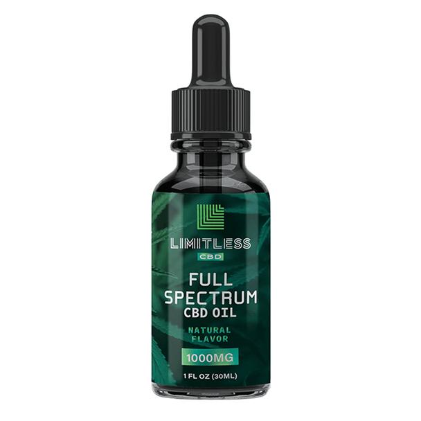 Limitless CBD - CBD Tincture - Full Spectrum Oil Natural - 1000mg