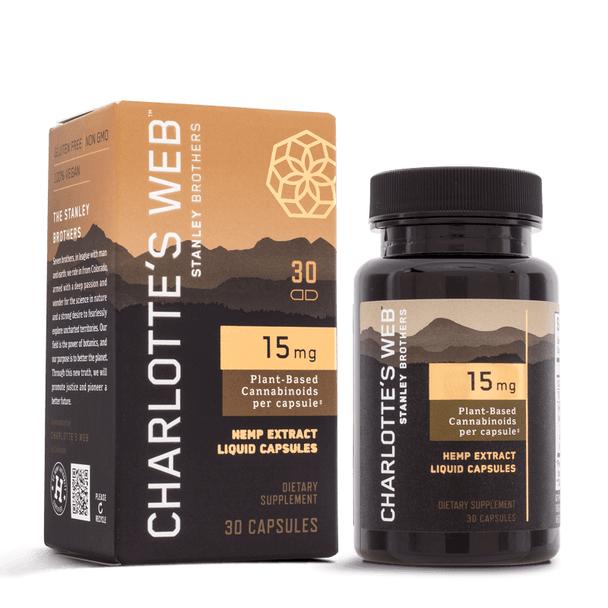 Charlottes Web - CBD Capsules - Full Spectrum Hemp Extract - 15mg