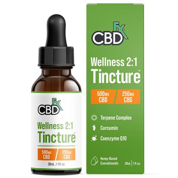 CBDfx - CBD Tincture - Wellness 2:1 Tincture - 500mg-6000mg