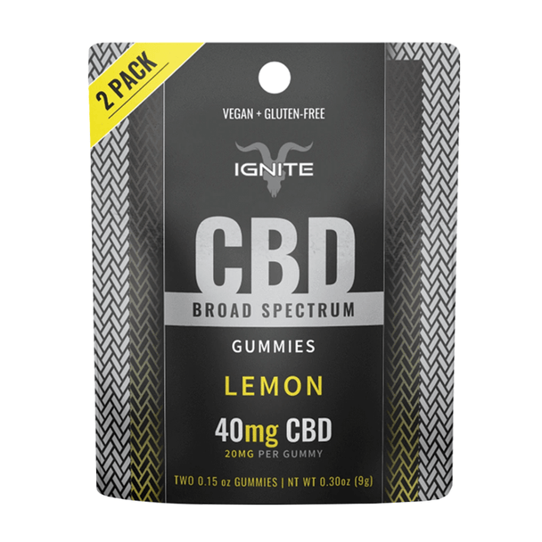 Ignite CBD - CBD Edible - Broad Spectrum Gummies Lemon - 20mg