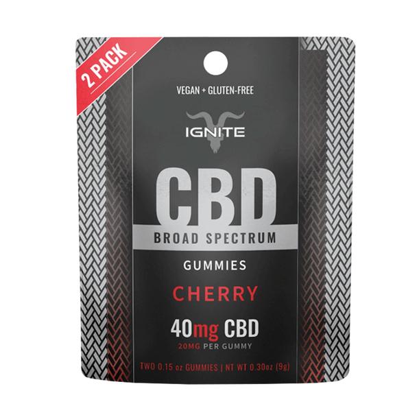 Ignite CBD - CBD Edible - Broad Spectrum Gummies Cherry - 20mg